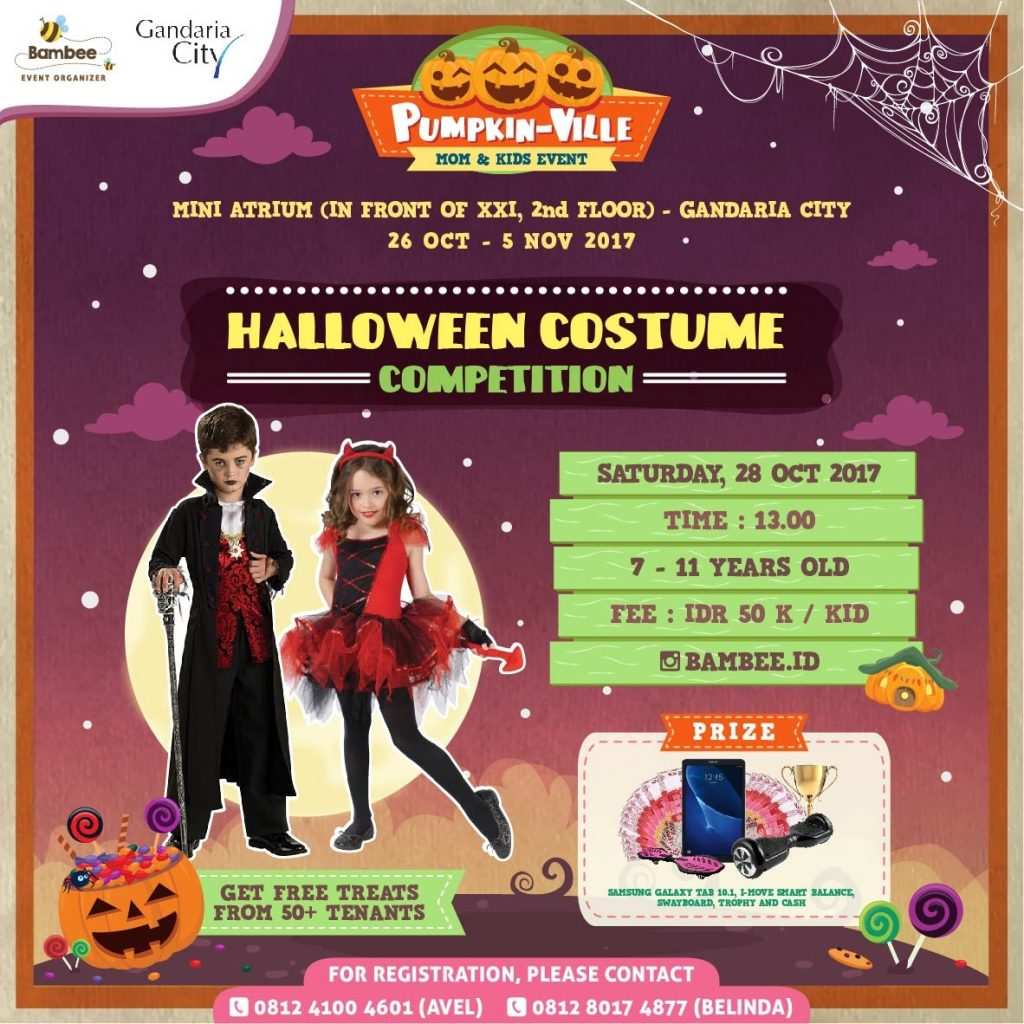 Halloween Costume Competition - Gandaria City Jakarta, 28 Oktober 2017