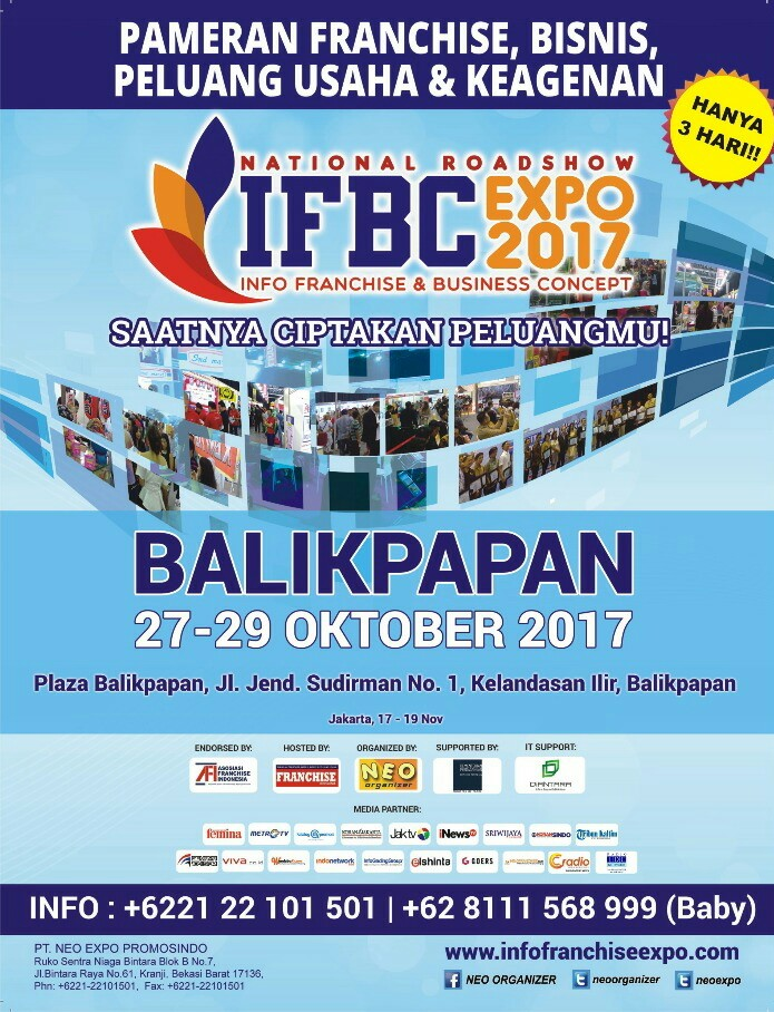 Info Franchise & Business Concept (IFBC) - Plaza Balikpapan, 27-29 Oktober 2017