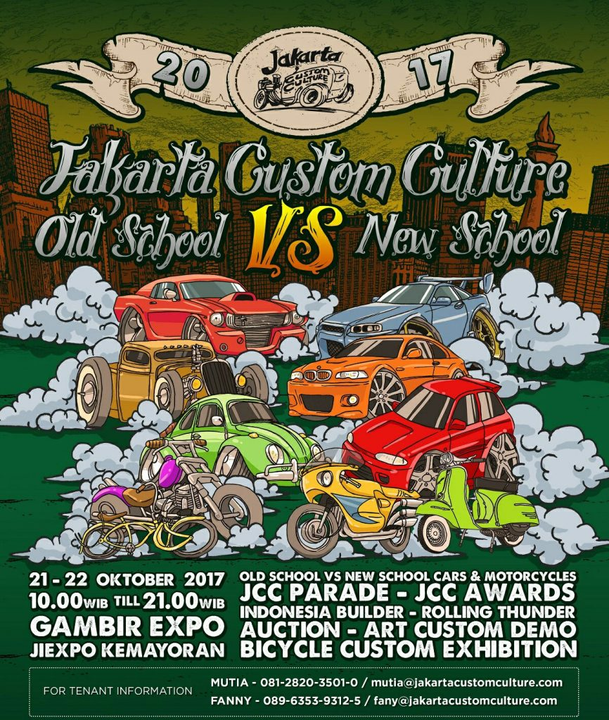 "Jakarta Custom Culture ""Old School Vs New School"" - JIExpo Kemayoran, 21-22 Oktober 2017"