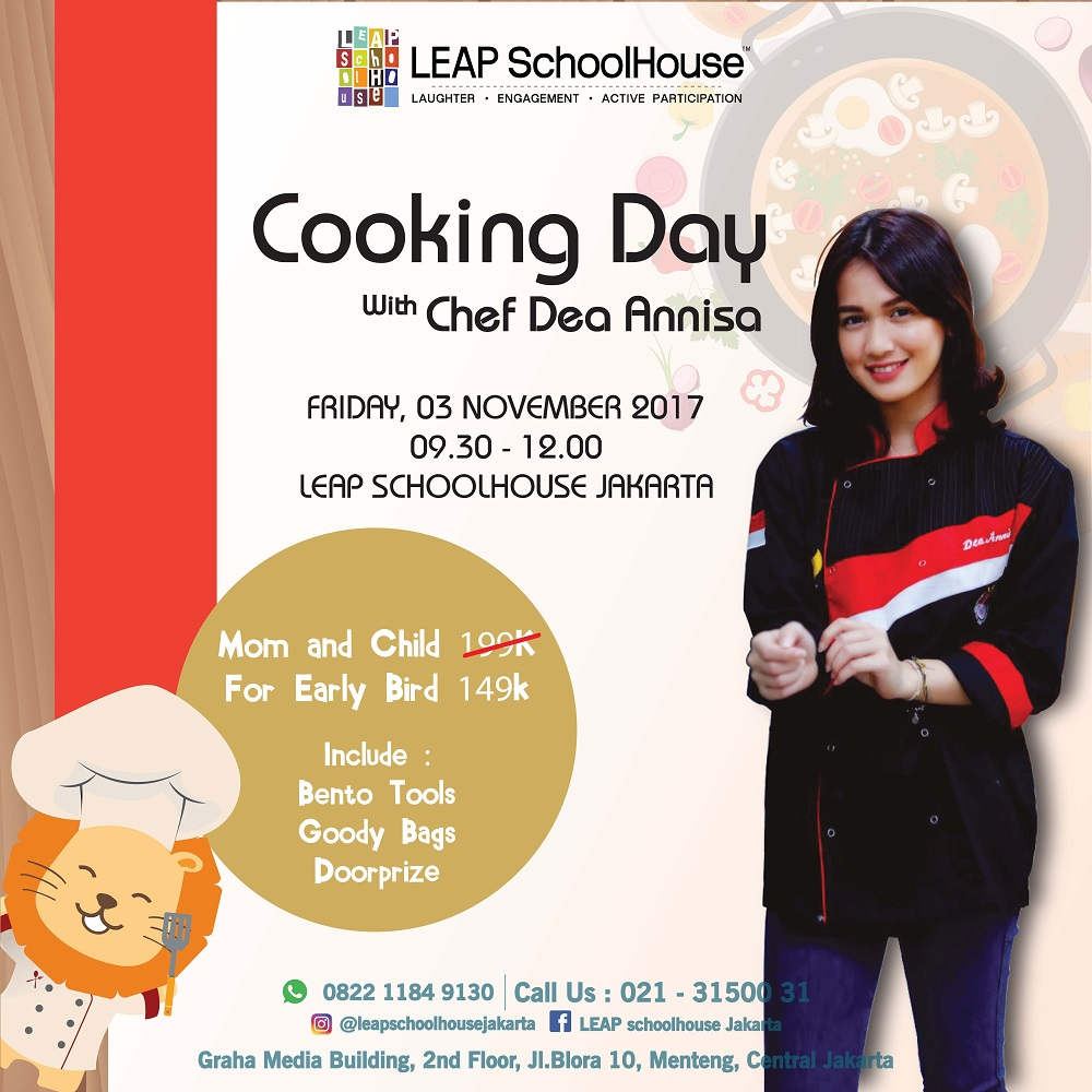 LEAP Cooking Day with Chef Dea Annisa - LEAP SchoolHouse Jakarta, 3 November 2017