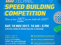 LEGO Technic Speed Building Competition - Bricks 4 Kidz Kemang, 18 November 2017