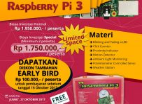 Learn How to Make Easy Cxreative Projects with Raspberry Pi3 - Amaris Hotel Cihampelas, 27 Oktober 2017