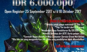 Mobile Legends Tournament - Grand Mall Bekasi, 28-29 Oktober 2017