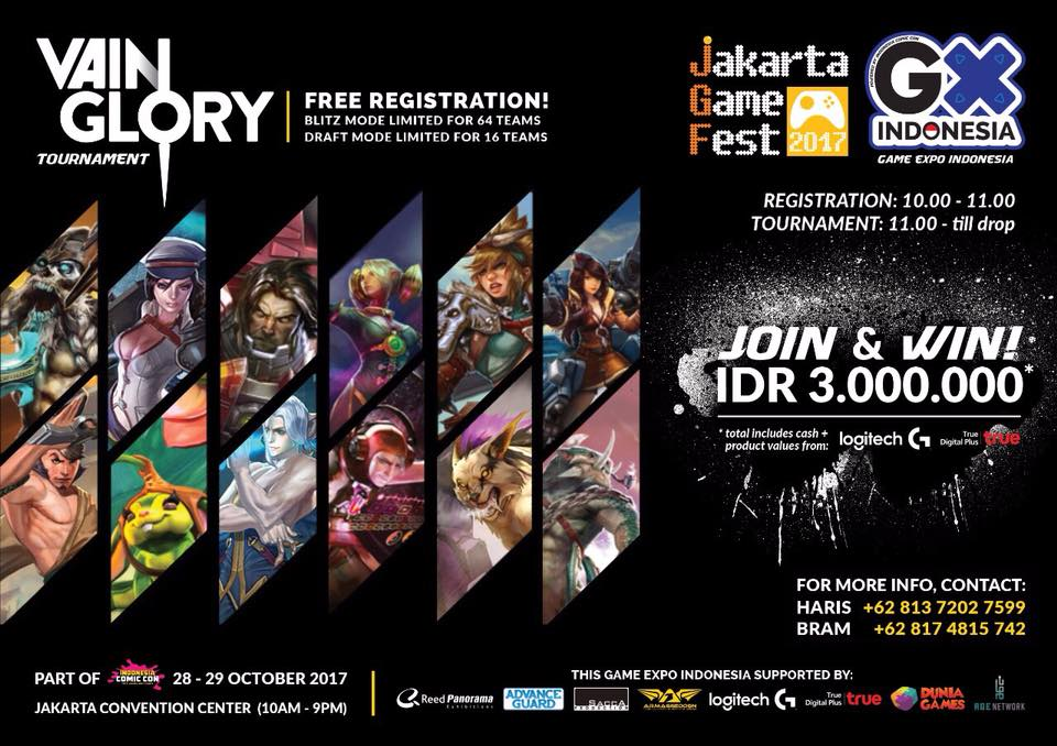 Vain Glory Tournament Indonesia Comic Con 2017