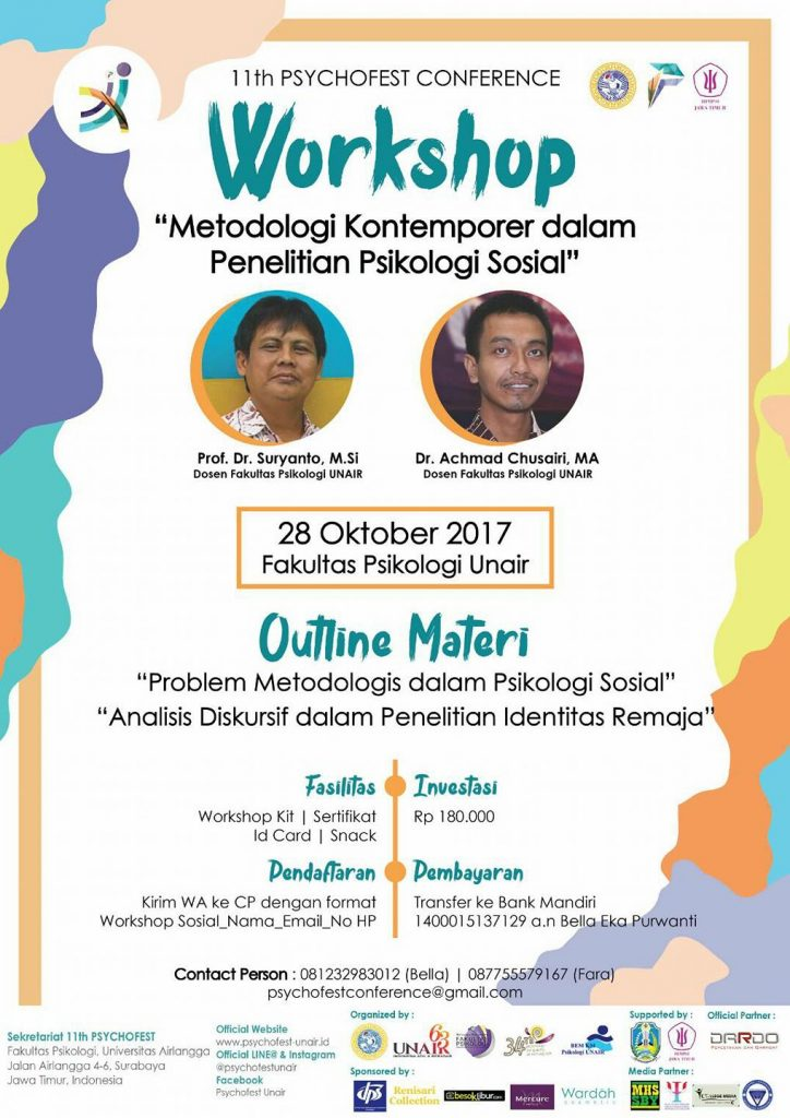 Workshop Sosial Psychofest - Universitas Airlangga, 28 Oktober 2017