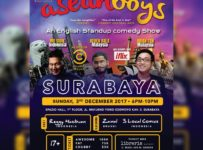 "ASEAN Boys ""English Stand Up Comedy Show"" - Spazio Hall Surabaya, 3 Des 2017"