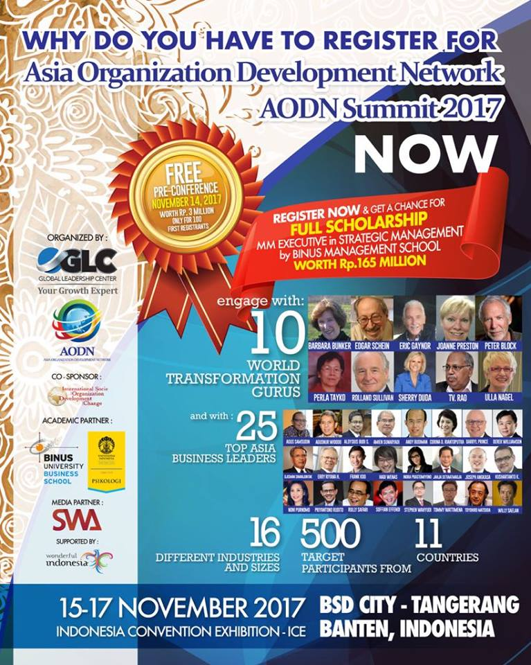 Asia Organization Development Network (AODN) Summit - ICE BSD City, 15-17 November 2017