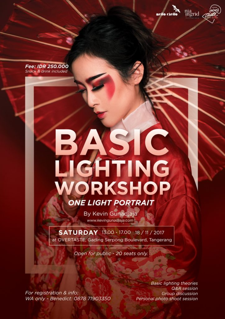 Basic Lighting Workshop - Warung Overtaste Tangerang, 18 November 2017