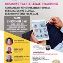 Business Talk & Legal Coaching - The BnB Bandung Metro Indah, 25 November 2017