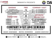 Company Visit and Seminar - Tarumanagara University, 20-23 November 2017