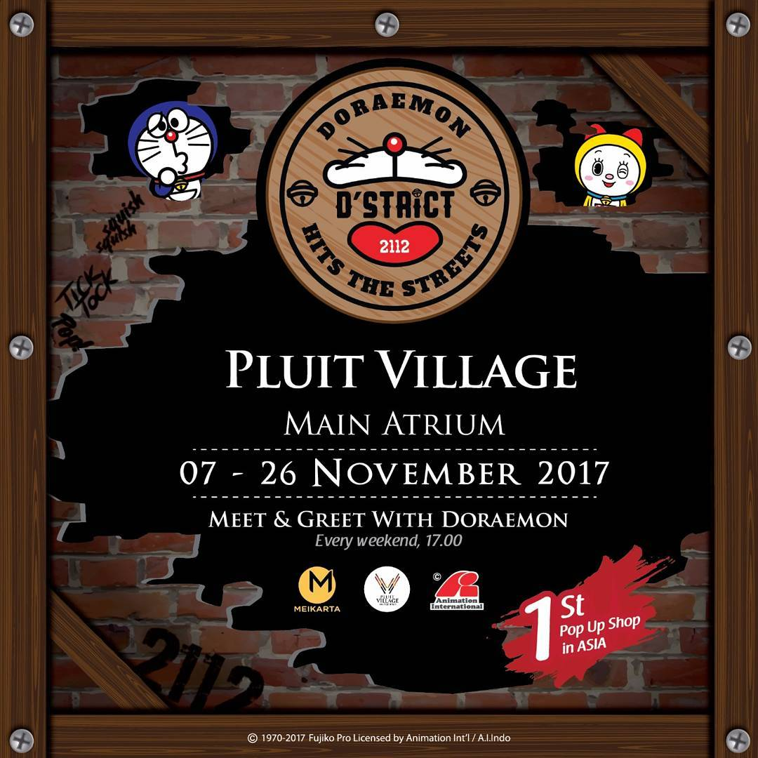 Doraemon Hits the Streets - Pluit Village Jakarta, 7-26 November 2017