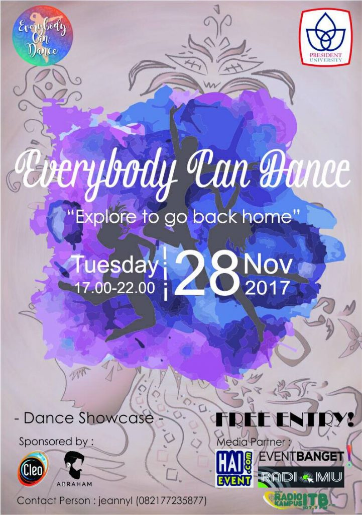 Everybody Can Dance - President University Student Housing, 28 November 2017