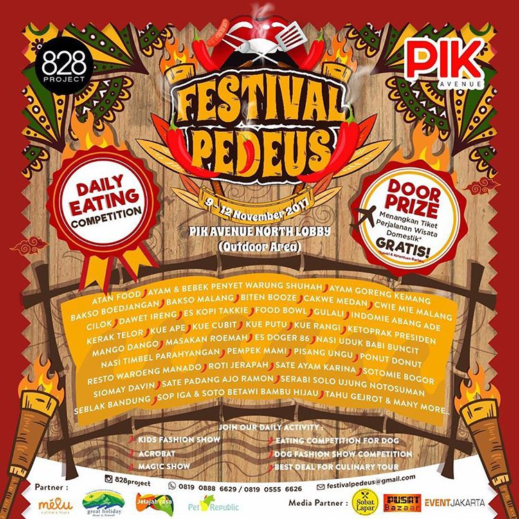 Festival Pedeus - PIK Avenue Mall, 9-12 November 2017