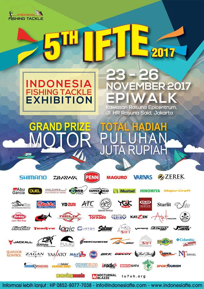 Indonesia Fishing Tackle Exhibition (IFTE) - Epicentrum Walk, 23-26 November 2017