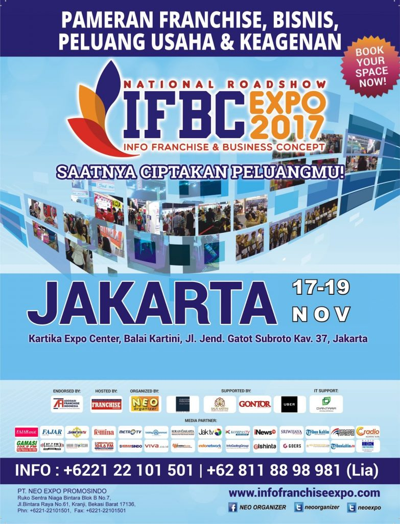 Info Franchise & Business Concept Expo (IFBC) - Balai Kartini Jakarta, 17-19 November 2017