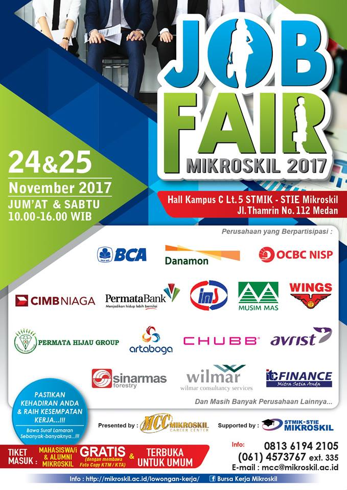 Job Fair Mikroskil - Medan, 24-25 November 2017