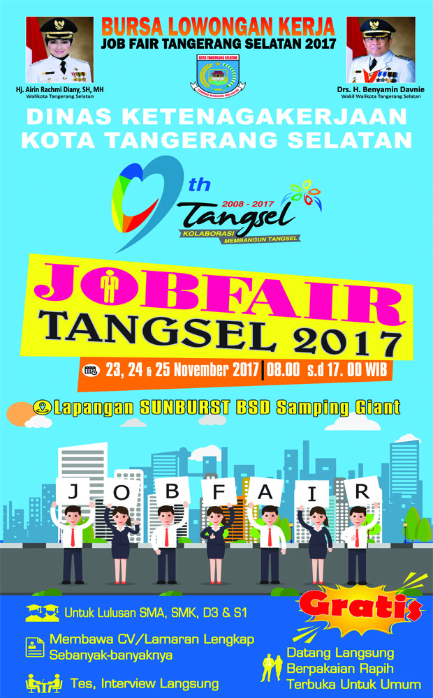 Job Fair Tangsel - Lapangan Sun Burst Giant, 23-25 November 2017