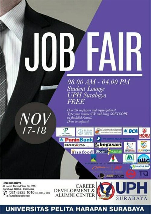 Job Fair Universitas Pelita Harapan Surabaya, 17-18 November 2017