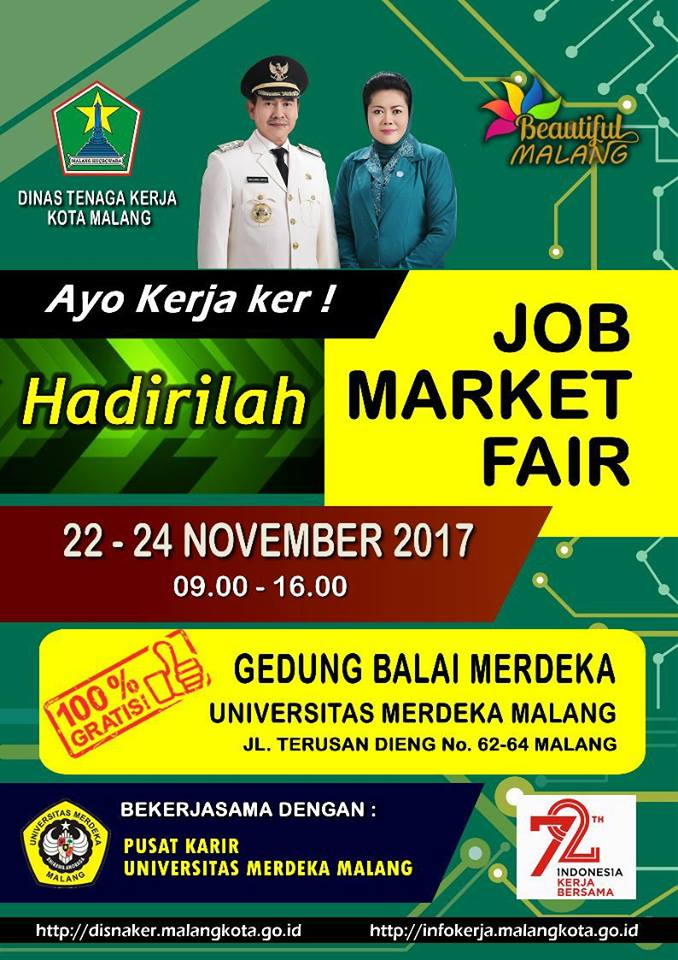Job Market Fair - Universitas Merdeka Malang (Unmer), 22-24 November 2017