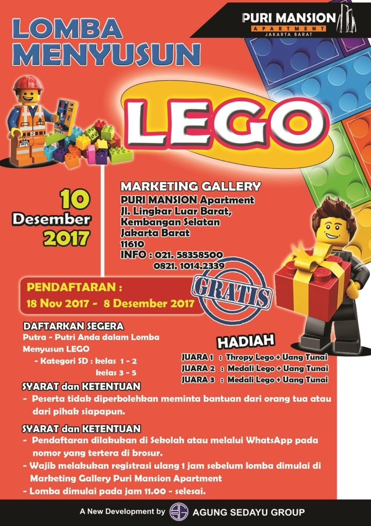 Lomba Menyusun Lego - Marketing Gallery Puri Mansion, 10 Desember 2017