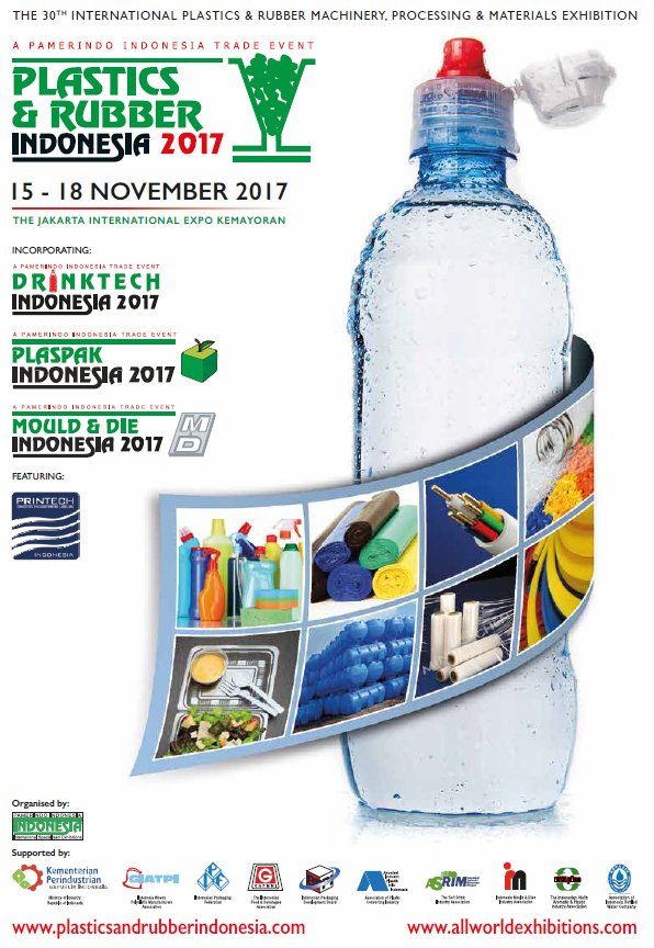 Plastics & Rubber, DrinkTech, PlasPak, Mould & Die Indonesia - JIExpo Kemayoran, 15-18 November 2017