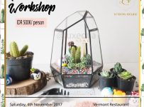 Terrarium Workshop Bandung - Vermont Restaurant, 4 November 2017