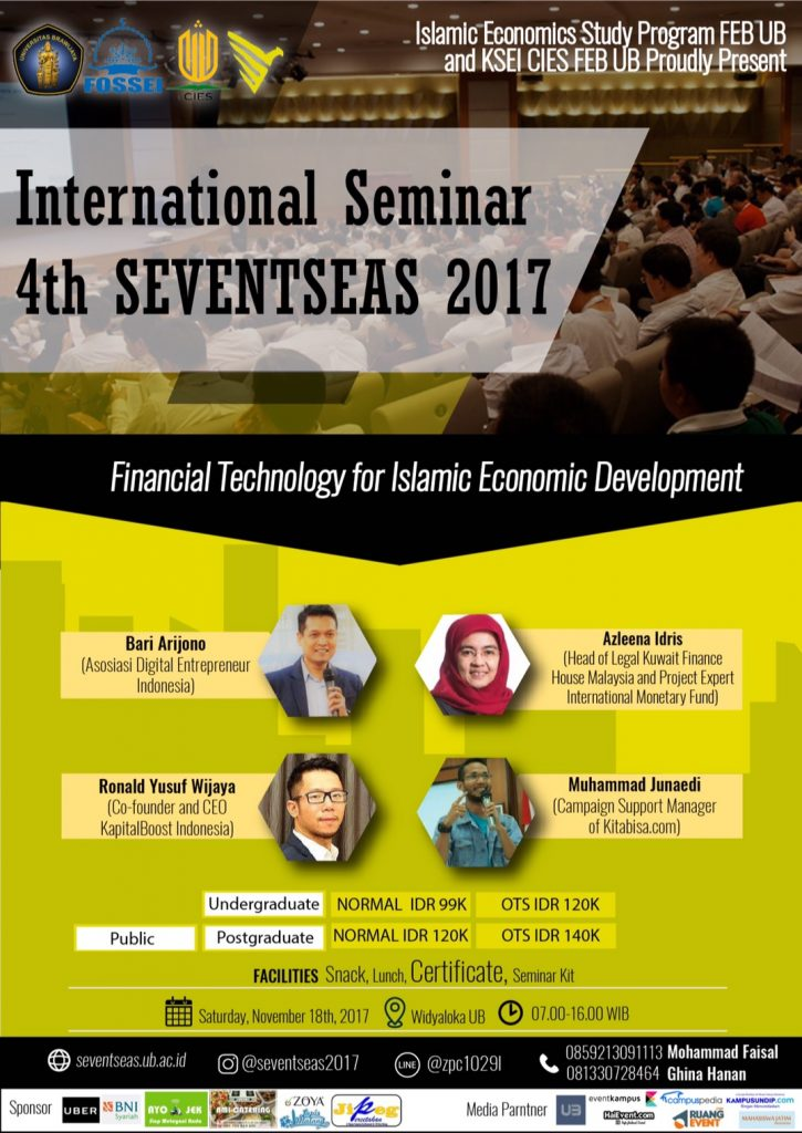The 4th International Seminar Seventseas - Universitas Brawijaya, 18 November 2017