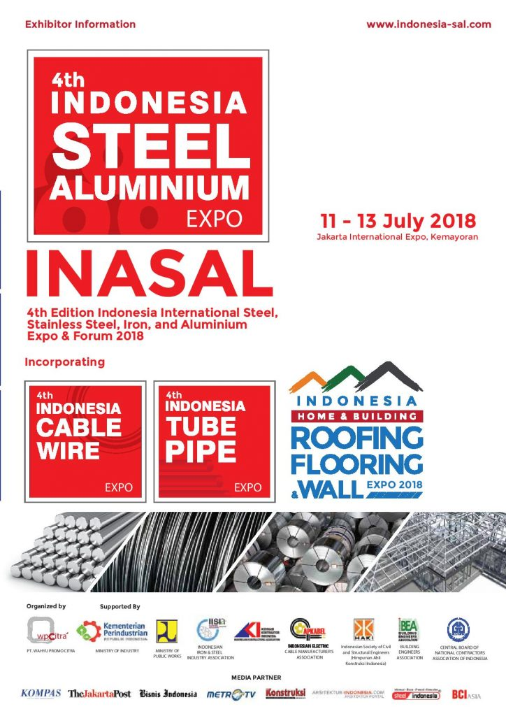 The 4th Indonesia Steel Building & Metal Structure Expo - JIExpo Kemayoran, 11-13 Juli 2018