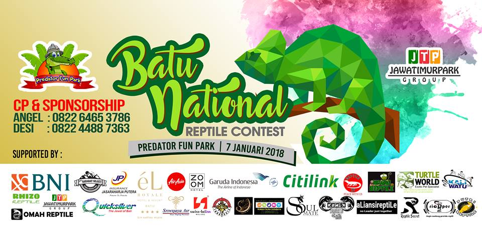 Batu National Reptiles Contest - Predator Fun Park, 7 Januari 2018