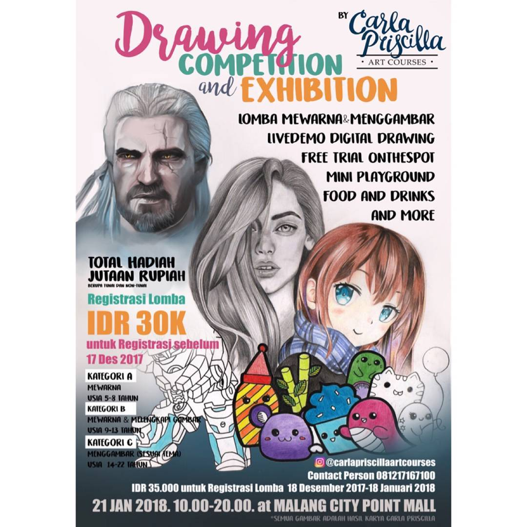 Drawing Competition and Exhibition - Malang City Point Mall, 21 Januari 2018