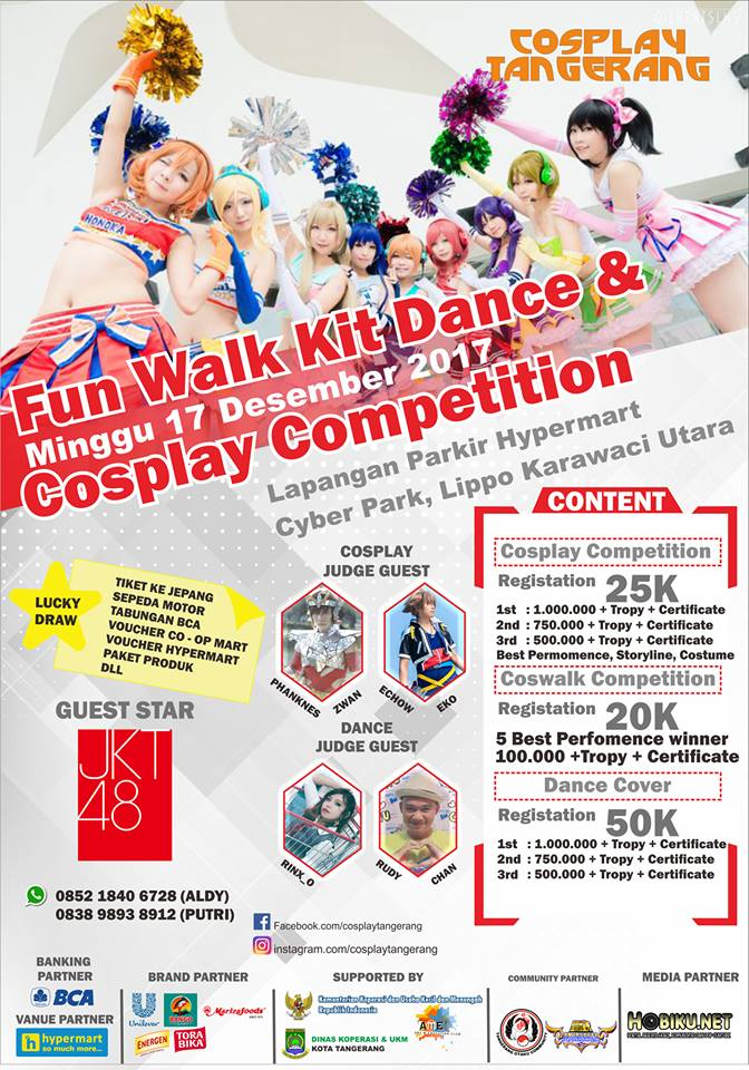 Fun Walk Kit, Dance Cover & Cosplay Competition - Tangerang, 17 Desember 2017