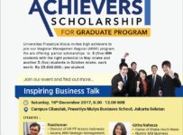 High Achievers Scholarship Graduate Program - Prasetiya Mulya Business School, 16 Desember 2017