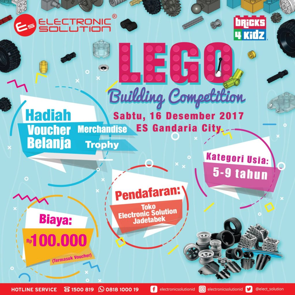 LEGO Building Competition by Bricks 4 Kidz and Electronic Solution - Gandaria City Mall, 16 Desember 2017