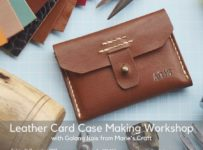 Leather Card Case Making Workshop With Galang Rais From Marie's Craft Leather - Yogyakarta, 16 Des 2017