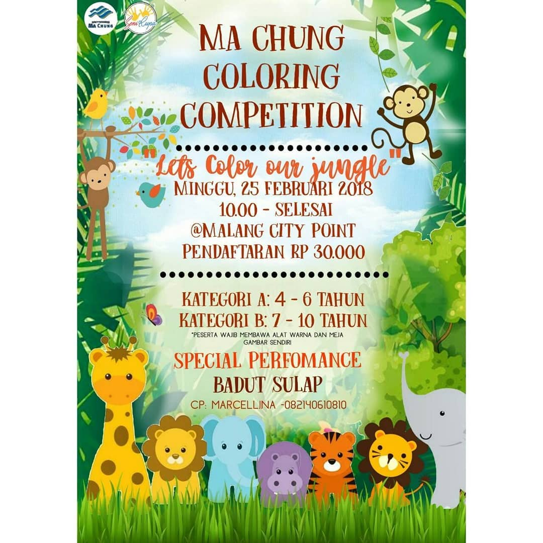 Ma Chung Coloring Competition - Malang City Point Mall, 25 Februari 2018