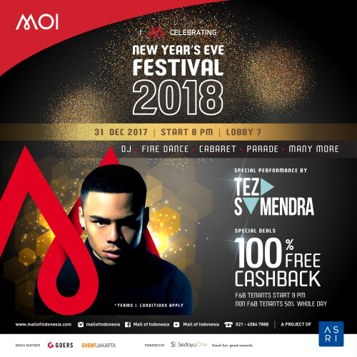New Year's Eve Festival 2018 - Mall of Indonesia, 31 Desember'17