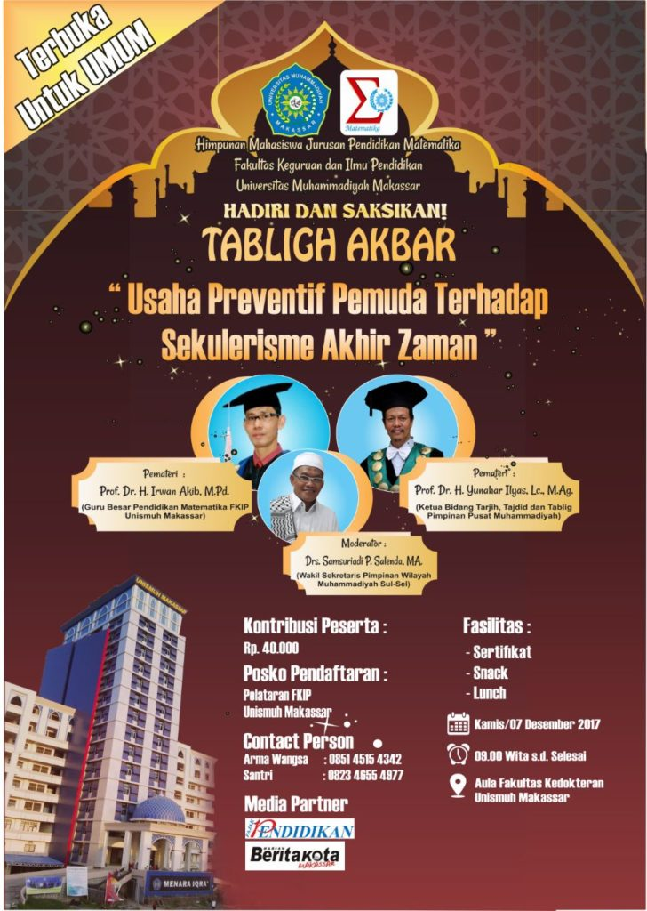 Tabligh Akbar - Universitas Muhammadiyah Makassar, 07 Desember 2017