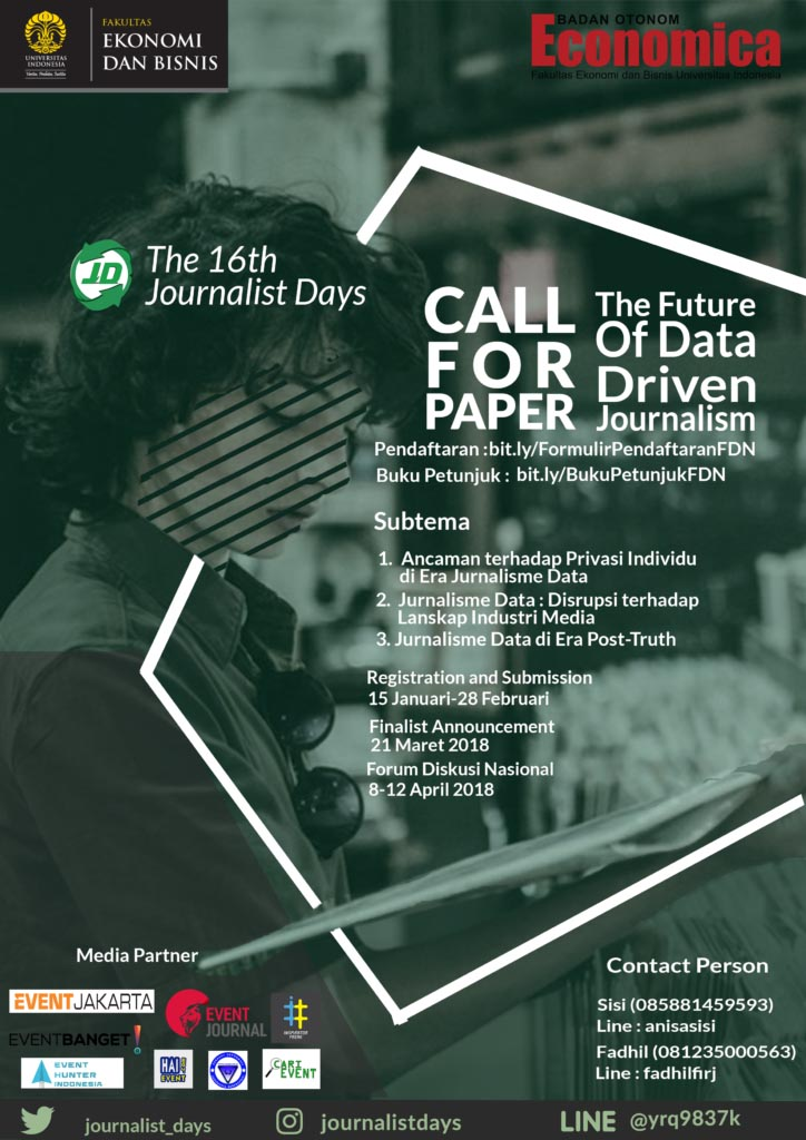 Call for Paper FDN The 16th Journalist Days - Universitas Indonesia
