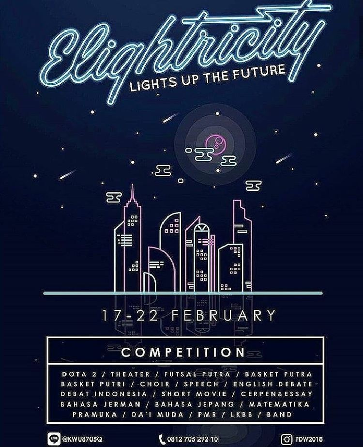 Elightricity Lights Up The Future - SMA Dwiwarna Bogor, 17-22 Februari 2018