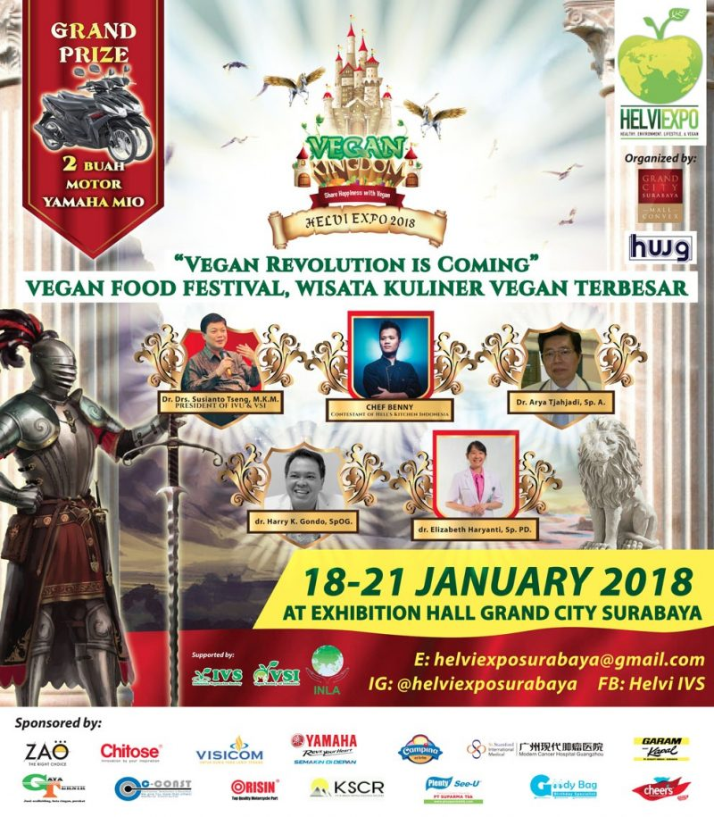Healthy Environtment Lifesytle Vegan (HELVI) Expo - Grand City Surabaya, 18-21 Januari 2018