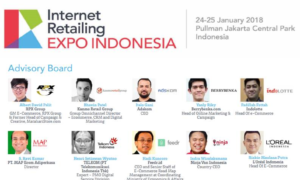 Internet Retailing Expo Indonesia - Pullman Jakarta Central Park, 24-25 Januari 2018