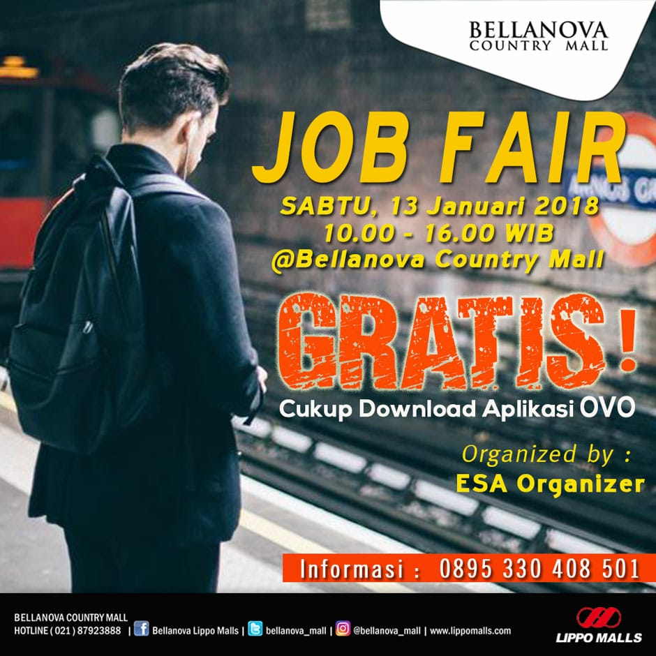 Job Fair Bellanova Country Mall Bogor, 13 Januari 2018