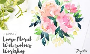 Loose Floral Watercolour Workshop - Maji Streatery Kelapa Gading, 16 Desember 2017