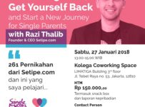 Redefining Love, Get Yourself Back, and Start A New Journey For Single Parent's - Kolega Coworking Space Tebet, 27 Januari 2017