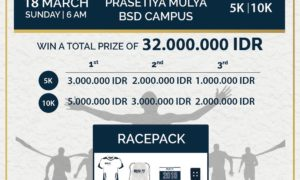 Run It by Prasmul Olympics - Universitas Prasetiya Mulya, 18 Maret 2018