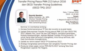 Seminar Transfer Pricing PMK 213 tahun 2016 dan OECD Transfer Pricing Guidelines 2017 - Shangri-La Hotel Surabaya, 07 Feb 2018