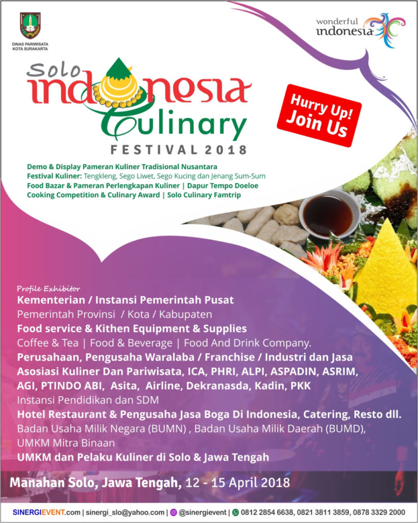 Solo Indonesia Culinary Festival - Stadion Manahan, 12-15 April 2018