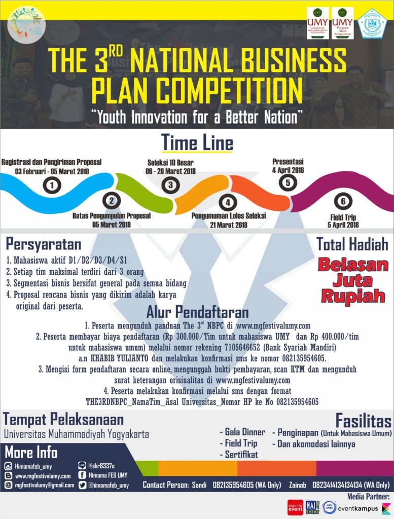 The 3rd National Business Plan Competition - UMY