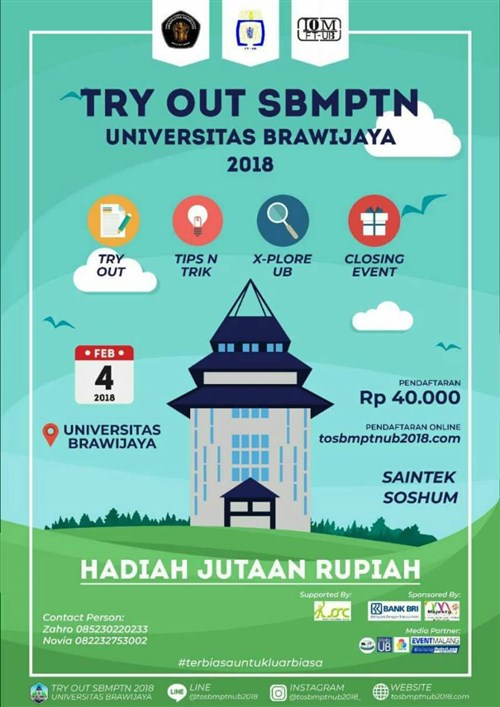Try Out SBMPTN Universitas Brawijaya, 4 Februari 2018