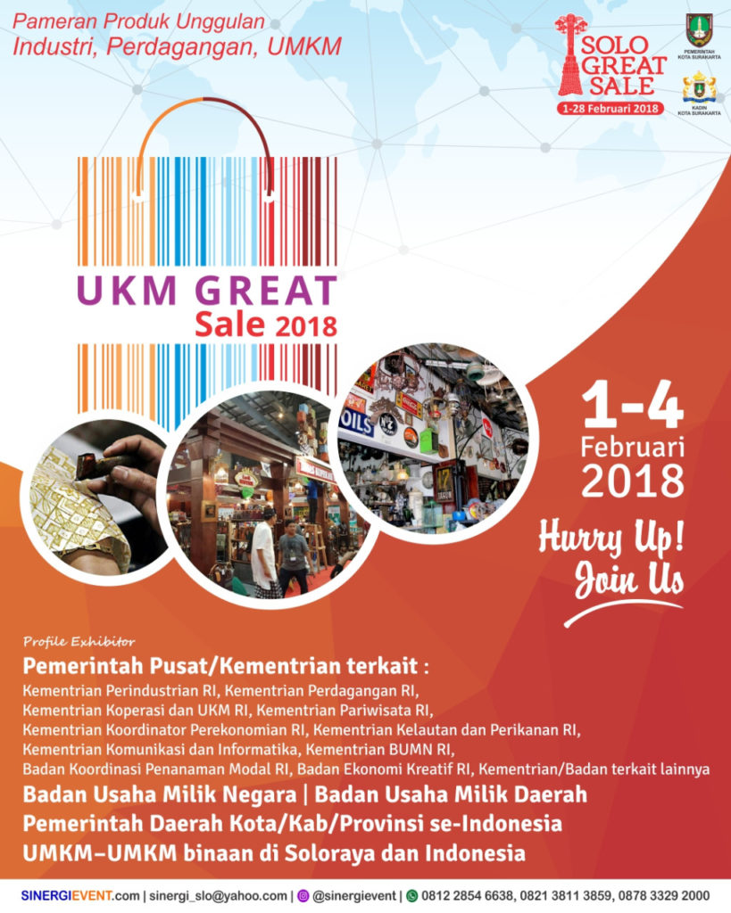 UKM Great Sale - Solo Paragon Mall, 1-4 Februari 2018